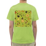 Funny Scary Spooky Halloween Party Design Green T-Shirt Back