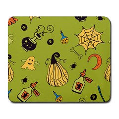 Funny Scary Spooky Halloween Party Design Large Mousepads by HalloweenParty