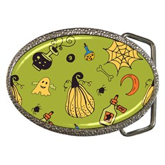 Funny Scary Spooky Halloween Party Design Belt Buckles