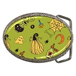 Funny Scary Spooky Halloween Party Design Belt Buckles Front