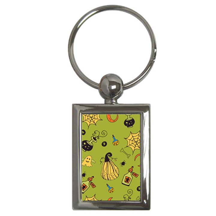 Funny Scary Spooky Halloween Party Design Key Chains (Rectangle)