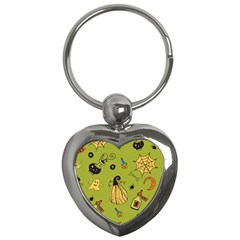 Funny Scary Spooky Halloween Party Design Key Chains (heart)