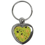 Funny Scary Spooky Halloween Party Design Key Chains (Heart)  Front
