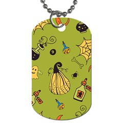 Funny Scary Spooky Halloween Party Design Dog Tag (two Sides)