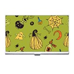 Funny Scary Spooky Halloween Party Design Business Card Holder Front