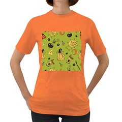Funny Scary Spooky Halloween Party Design Women s Dark T Shirt