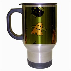 Funny Scary Spooky Halloween Party Design Travel Mug (silver Gray) by HalloweenParty