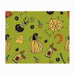 Funny Scary Spooky Halloween Party Design Small Glasses Cloth