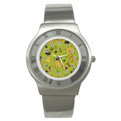 Funny Scary Spooky Halloween Party Design Stainless Steel Watch
