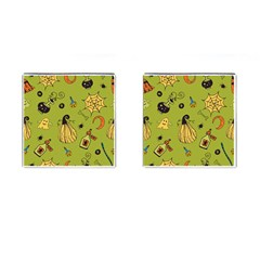 Funny Scary Spooky Halloween Party Design Cufflinks (square)