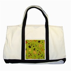 Funny Scary Spooky Halloween Party Design Two Tone Tote Bag