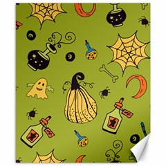 Funny Scary Spooky Halloween Party Design Canvas 8  X 10
