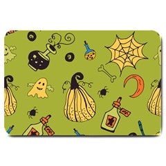 Funny Scary Spooky Halloween Party Design Large Doormat