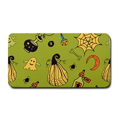 Funny Scary Spooky Halloween Party Design Medium Bar Mats