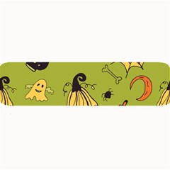 Funny Scary Spooky Halloween Party Design Large Bar Mats