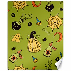 Funny Scary Spooky Halloween Party Design Canvas 11  X 14