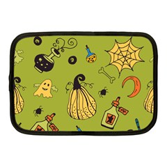 Funny Scary Spooky Halloween Party Design Netbook Case (medium) by HalloweenParty