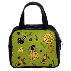 Funny Scary Spooky Halloween Party Design Classic Handbag (two Sides)