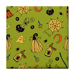 Funny Scary Spooky Halloween Party Design Face Towel by HalloweenParty