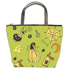 Funny Scary Spooky Halloween Party Design Bucket Bag