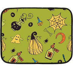 Funny Scary Spooky Halloween Party Design Fleece Blanket (mini) by HalloweenParty