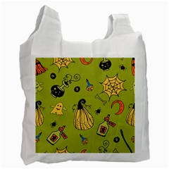 Funny Scary Spooky Halloween Party Design Recycle Bag (two Side) by HalloweenParty