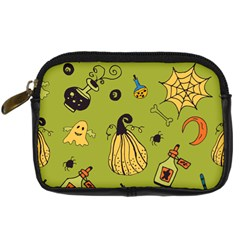 Funny Scary Spooky Halloween Party Design Digital Camera Leather Case