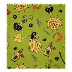 Funny Scary Spooky Halloween Party Design Shower Curtain 66  X 72  (large)