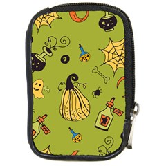 Funny Scary Spooky Halloween Party Design Compact Camera Leather Case