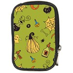 Funny Scary Spooky Halloween Party Design Compact Camera Leather Case Front