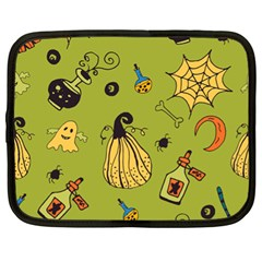 Funny Scary Spooky Halloween Party Design Netbook Case (xl)