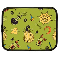 Funny Scary Spooky Halloween Party Design Netbook Case (xxl) by HalloweenParty