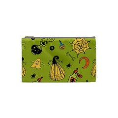 Funny Scary Spooky Halloween Party Design Cosmetic Bag (small)