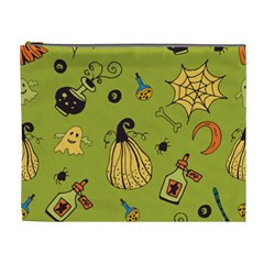 Funny Scary Spooky Halloween Party Design Cosmetic Bag (xl)