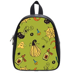 Funny Scary Spooky Halloween Party Design School Bag (small)