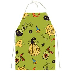 Funny Scary Spooky Halloween Party Design Full Print Aprons by HalloweenParty
