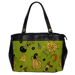 Funny Scary Spooky Halloween Party Design Oversize Office Handbag by HalloweenParty