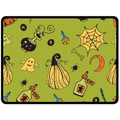 Funny Scary Spooky Halloween Party Design Fleece Blanket (large)