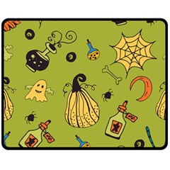 Funny Scary Spooky Halloween Party Design Fleece Blanket (medium)  by HalloweenParty