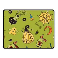 Funny Scary Spooky Halloween Party Design Fleece Blanket (small)