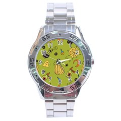 Funny Scary Spooky Halloween Party Design Stainless Steel Analogue Watch