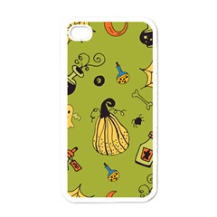 Funny Scary Spooky Halloween Party Design Apple Iphone 4 Case (white)