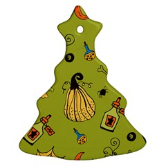 Funny Scary Spooky Halloween Party Design Christmas Tree Ornament (two Sides) by HalloweenParty