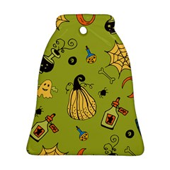 Funny Scary Spooky Halloween Party Design Bell Ornament (two Sides)