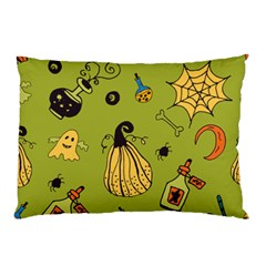 Funny Scary Spooky Halloween Party Design Pillow Case (two Sides)