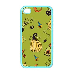 Funny Scary Spooky Halloween Party Design Apple Iphone 4 Case (color)