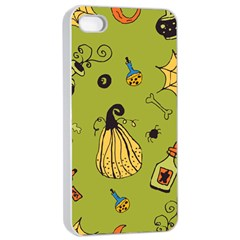 Funny Scary Spooky Halloween Party Design Apple Iphone 4/4s Seamless Case (white) by HalloweenParty