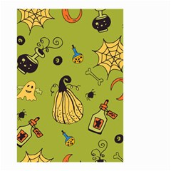 Funny Scary Spooky Halloween Party Design Small Garden Flag (two Sides) by HalloweenParty