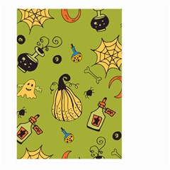 Funny Scary Spooky Halloween Party Design Large Garden Flag (two Sides) by HalloweenParty