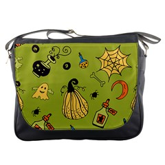 Funny Scary Spooky Halloween Party Design Messenger Bag